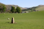 Standing Stone - Looking towards Glen Eagles