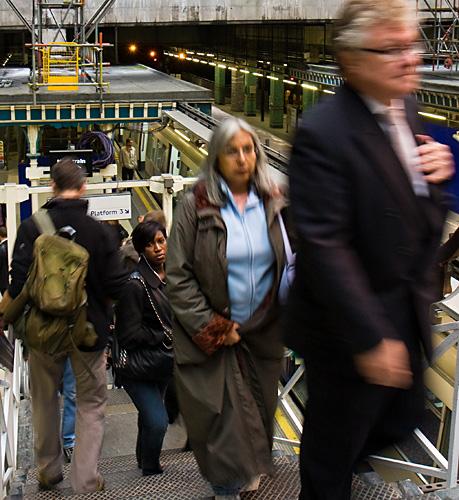 Commuters - Aldgate Station