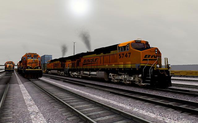BNSF ES44AC 5747 at San Bernadino