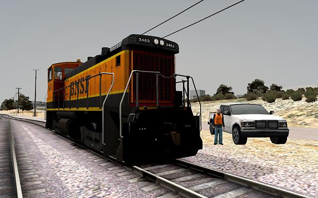 BNSF SW1500 3463 at Oro Grande