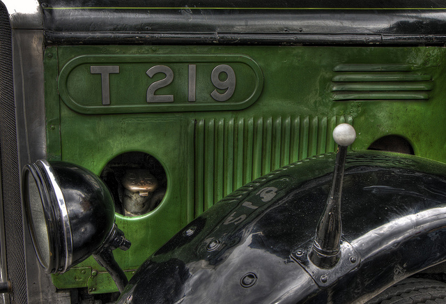 Buses also have unique fleet numbers.   T219 is an AEC Regal and entered service in 1931.