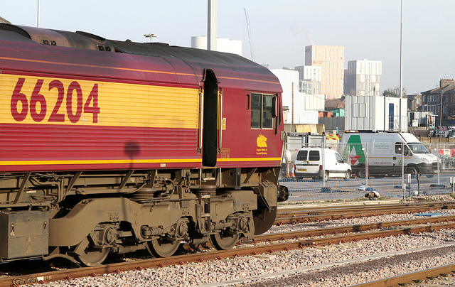 66204 of DB Schenker at Acton Main Line.