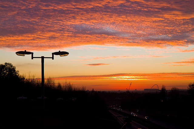 Sunset over the North Circular Road