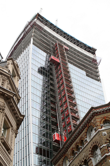 20 Fenchurch Street - Designed by Rafael Viñoly - Under construction.