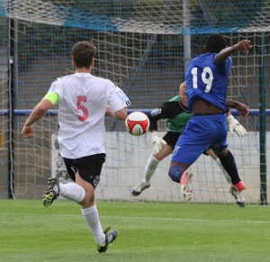 Marcus Milner strikes for goal