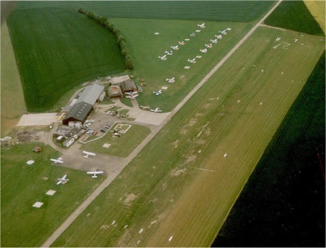 Andrewsfield from the air - My home airfield for several years