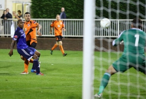 Ahmet watches as Searle prepares to Save!