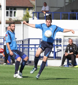 The angel of The North? - Hector levitates during his last match for Wingate & Finchley before leaving for Toronto