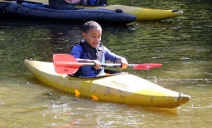 Alasdair tries his hand at Canoeing for the first time