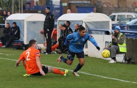 TJ hurdles a tackle against Hendon - Has been having a great start to 2014, putting in some excellent performances