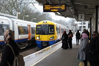 378216 arrives at Gospel Oak in a heavy shower