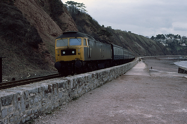 47537 at Sprey Point, Teignmouth (31APR79)