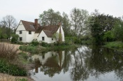 Willy Lotts Cottage and the River Stour - site of Constable's painting 'The Hay Wain'