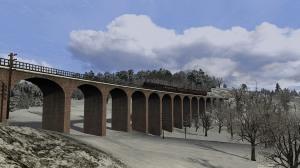Black 5 44922 crossing Goldielea Viaduct.