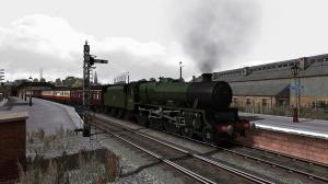 Jubilee 45588 'Kashmir' stands in Stranraer Town station with a short passenger service for Carlisle.