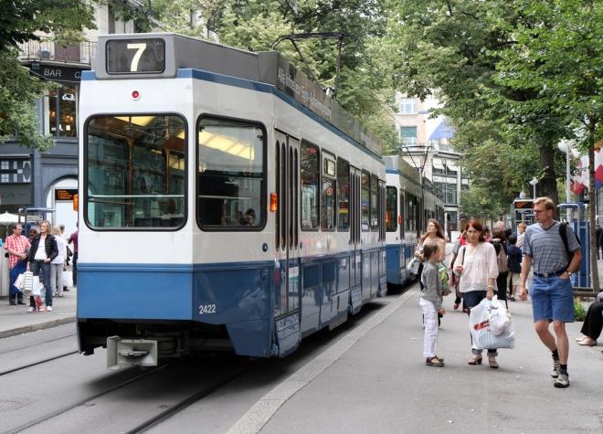 Tram on Bahnhofstrasse, Zurich