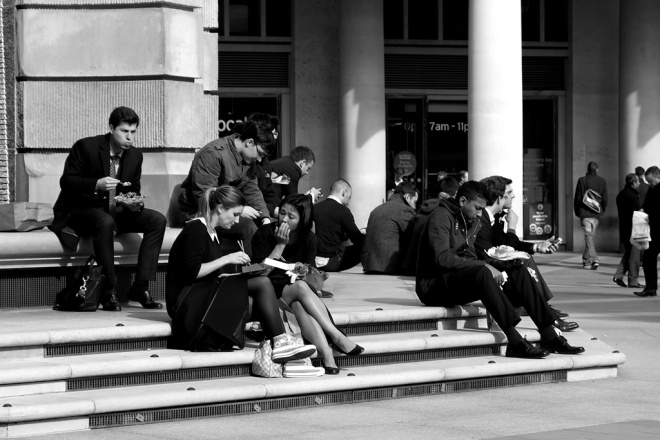 Lunch in Paternoster Square