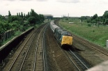 55006 'The Fife and Forfar Yeomanry' passing Fletton.