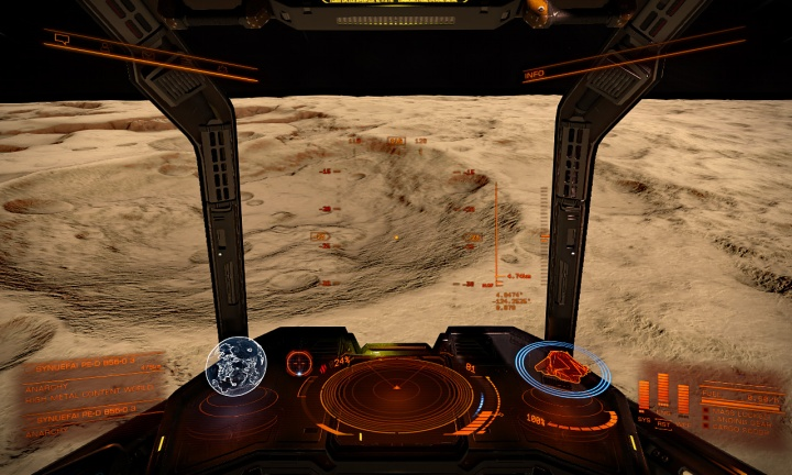 Approaching crater on SYNUEFAI PE-D B56-0 3