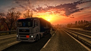 Sunset on The Berlin Ring Road.