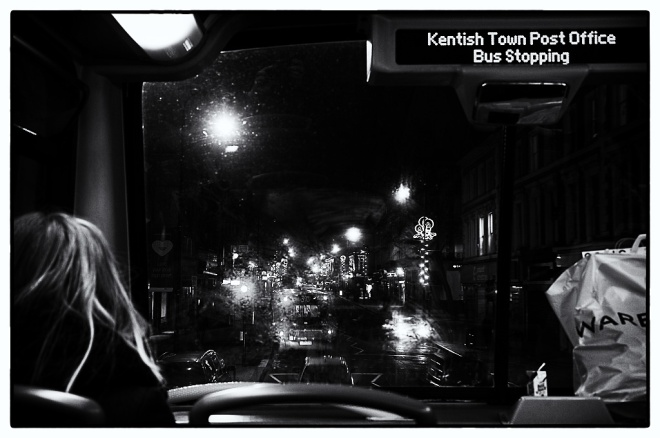 Kentish Town from a late bus.