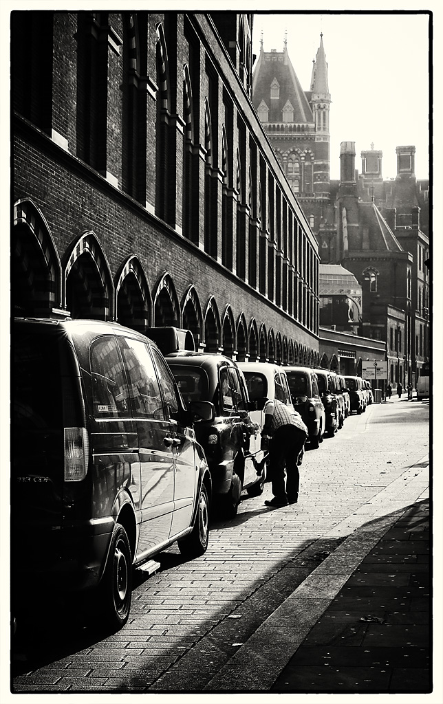 Cabs outside St. Pancras Station
