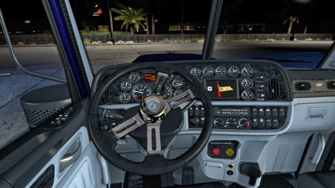 New Steering Creations wheel in place of the Peterbilt standard version.